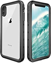 iPhone Xs Max Waterproof Case, ZERMU Shockproof Snowproof Cover IP68 Underwater Full Body Protection Crystal Transparent Built-in Screen Protector Underwater Waterproof Case for iPhone Xs Max 6.5