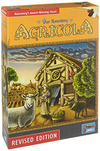 Agricola Game New Revised Edition, Bonus 3 Gold Metallic Cloth Drawstring Storage Pouches, Bundled Items