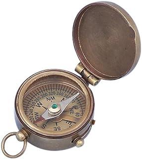 """Hampton Nautical CO-0591-AN 3Xglass-101 Antique Brass Magellan Compass 2"""" - Handheld Compass - Vintage Compass"""