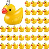 40 Stücke Kleine Gelbe Ente Anhänger Harz Ente Charms Anhänger Baby Ente Charm Anhänger Schmuck DIY Charms für Halskette Ohrring Schlüsselbund Handwerk Zubehör