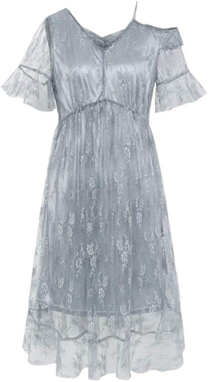 MSNZS Dresses Lace Strapless Sexy VNeck
