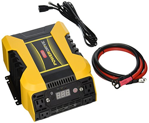 PowerDrive PD1000 1000W Power Inverter with Bluetooth, Yellow