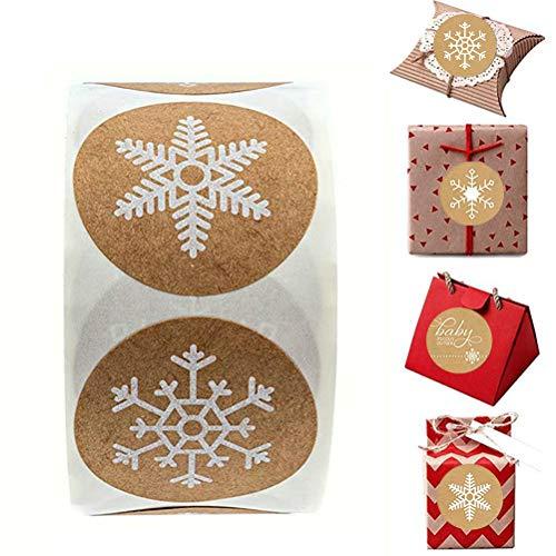 Eksesor Autocollants de Noël, Autocollants-Cadeaux Ronds, Autocollants d'étiquettes Rondes, pour Sacs-Cadeaux d'enveloppe, Sacs en Papier, Cartes de Noël, décorations d'étanchéité
