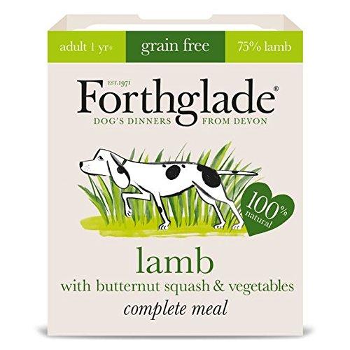 Forthglade - Cordero completo, diseño de mariposa y verdura, grano gris, 7 x 395 g (paquete de 2)