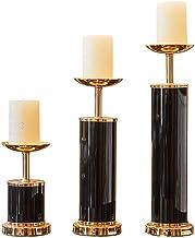 Black Minimalist Ceramic Candlestick Candlelight Dinner Props Candle Holder Living Room Table Retro Home Pillar Holders De...