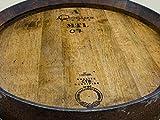 Temesso Stehtisch Tisch aus gebrauchtem Holzfass Weinfass, Fass, Barrique Tisch aus Eiche Holz rustikal 225 Liter (rustikal geölt) - 4