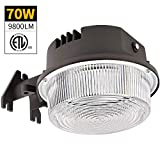 Bbounder - LightPRO 70W 9800LM LED Barn Lights Dusk to Dawn Outdoor Area Lights with Photocell (700W Incandescent Equiv.) 5000K Daylight Waterproof ETL&DLC Listed for Yard Street Flood Lights