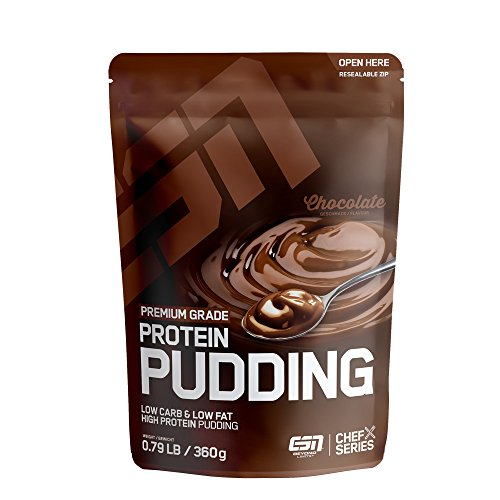 ESN Protein Pudding – 360 g – Chocolate – High-Protein-Pudding-Pulver – cremig & lecker – 12 Portionen – schnell gemixt – Made in Germany