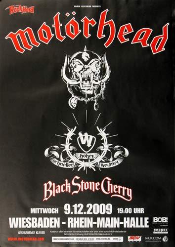 Motörhead - Motörizer, Wiesbaden 2009 » Konzertplakat/Premium Poster   Live Konzert Veranstaltung   DIN A1 «