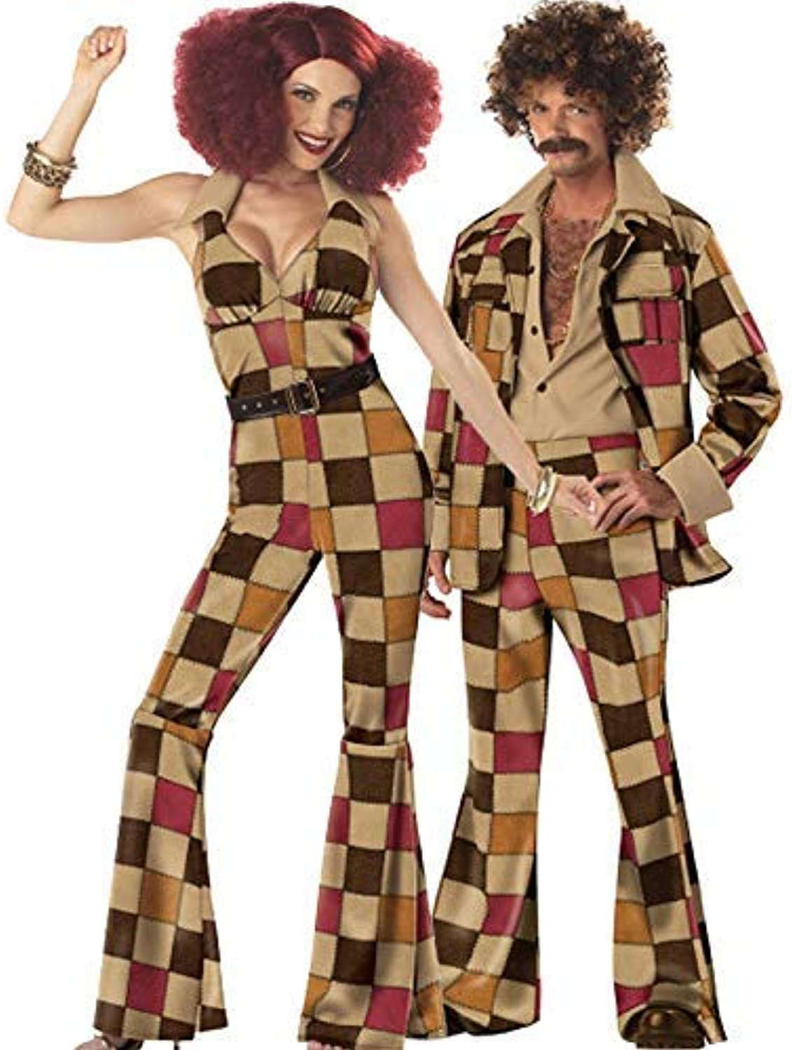Cosplay costume,SXXS Men and women 70's retro disco ball queen costume role playing Halloween costume game uniform With a Unique Original Ring Fxxk Me