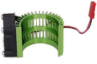RCAWD Motor de disipador de calor del motor con ventilador N10028 Cooling Side Vent 6v JST 540/545/550 Tamaño de aleación de aluminio para 1/10 RC Tamiya(verde)