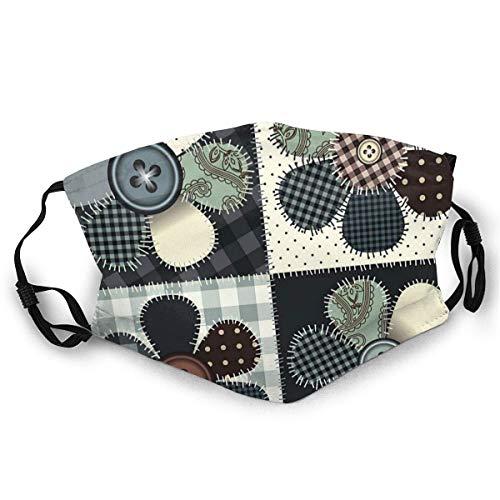 Anti-Staub-Gesichtsnasen-Mundschutzschal mit verstellbaren Ohrbügeln Bandana mit Filterblumencollage