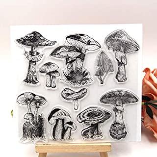 ZFPARTY Mushroom Clear Stamps Scrapbook Paper Craft Clear Stamp Scrapbooking