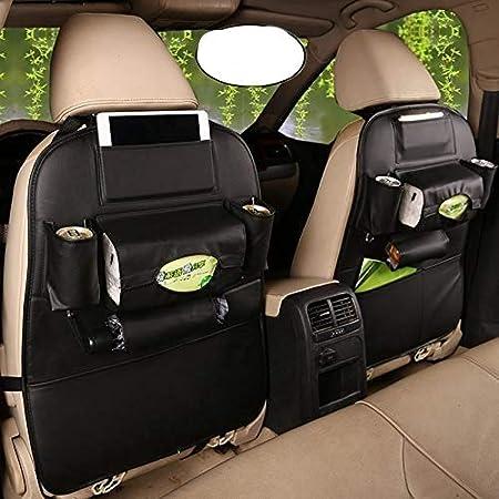 Hcmax 2 Pack Auto Rückenlehnenschutz Autositz Zurück Veranstalter Tasche Rücksitz Schutzaufbewahrung Trittmatte Ipad Mini Halter Großes Reisezubehör Auto