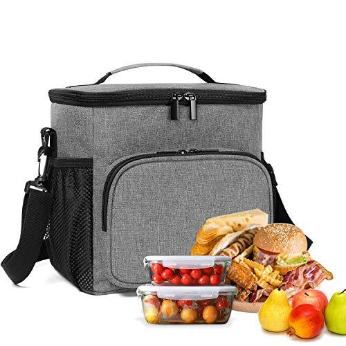 Yarwo Lunch Tassen voor Vrouwen voor Werk, Geïsoleerde Lunch Tas voor Kids Mannen Studenten, Lunch Tote Tas Perfect voor Werk School Picnic