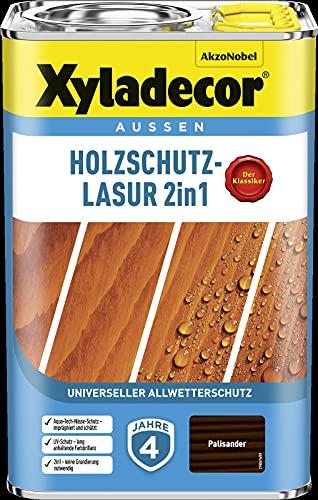 Xyladecor Vernice protettiva per legno, 4 l, per esterni, impregnante per legno (palissandro)