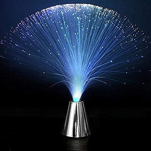 Uonlytech Luz noturna de fibra ótica, 4 peças, muda de cor, luminária de mesa para decoração de quarto, luz de LED para para iluminação de humor, luzes noturnas para crianças e adultos