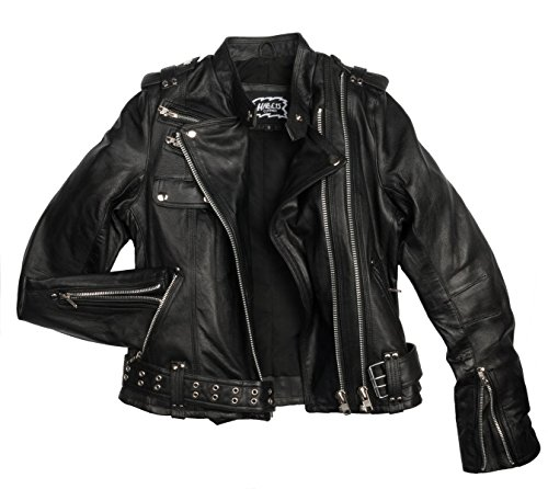 Halle 15 Clothes Damen Lederjacke Rockers Echtleder von H15 Merch !! (M)