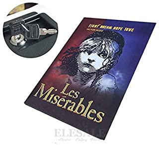 Safes - New Security Hidden Safe Box Classic Real Book Safe Key Lock Metal Simulation Book Style Les Miserables 222 * 152 ...