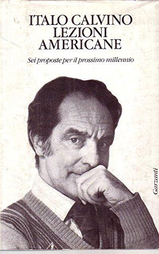 L- LEZIONI AMERICANE - ITALO CALVINO - GARZANTI -- 1a ED. - 1988 - CS - ZCS50