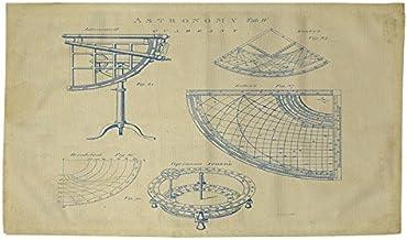 Manual carpinteros y tejedoras Dobby baño Alfombra, 4by 182,88, Vintage astronomía cuadrante