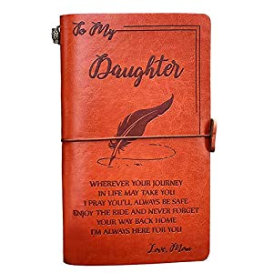 ✅GIFT FOR DAUGHTER: Enjoy the ride and never forget your way home. Ideal gift for your daughter. ✅RELIABLE QUALITY: Durable pu leather cover + 136 page refillable acid free paper refills + additional cellphone slot & card slot. Suitable for writing d...
