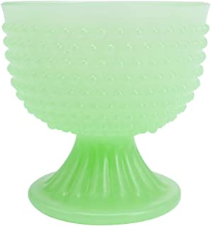 J.C. and Rollie Mint Glass 4-inch Cup, Bowl, Vase