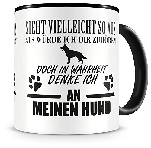 Samunshi® Ich denke an meinen Hund Tasse Kaffeetasse Teetasse Kaffeepott Kaffeebecher Becher