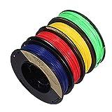 PLA 1,75 mm 4 x 250 g Bleu/Rouge/Jaune/Vert - Jeu de filaments pour imprimante 3D -...