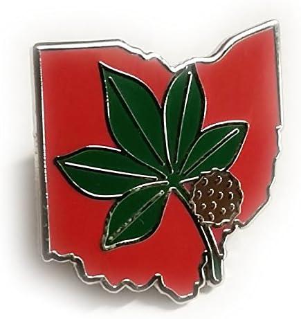 OSU Ohio Fashion State University Pin Leaf Buckeyes Lapel Excellence
