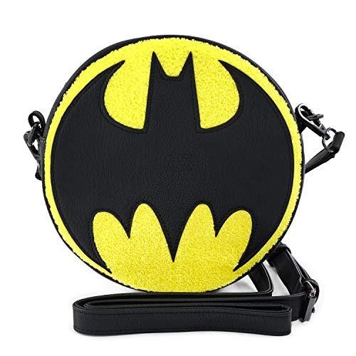 Loungefly Batman Logo Chenille Crossbody Bag Standard
