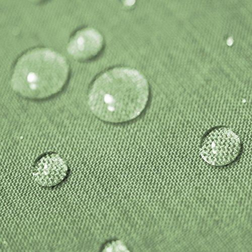Gartentischdecke Lotus Effekt Eckig 135x200 cm Hellgrün Grün - Farbe, Form & Größe wählbar mit Fleckschutz - (LE_E135x200HGrün)