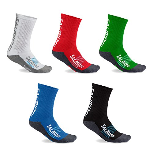 Salming 2 Paar Advanced Indoor Unisex Sportsocken (grün, 43-46)