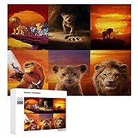 Lion King ライオン・キング ジグソーパズル 1000ピース diy 絵画 学生 子供 大人 Jigsaw Puzzle 木製パズル 溢れる想い おもちゃ 幼児 アニメ 漫画 壁飾り 入園祝い 新年 ギフト 誕生日 クリスマス プレゼント 贈り物