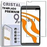 REY Protector de Pantalla para HTC Desire 820 Cristal Vidrio Templado Premium