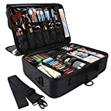 GZCZ 3 Layers Large Capacity Travel Professional Makeup Train Case Cosmetic Brush Organize...