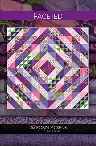 """Robin Pickens Quilt Pattern - Faceted (75"""" x 75"""" Finished)"""