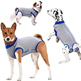Yagamii Dog Recovery Suit E-Collar Wear Substitute,Neuter Spay Surgical Cone Flexible Clothes for Dogs Cat Male Female,Pet Anti-Licking Soft Wear Substitute for Wound Bandages Washable Shirt