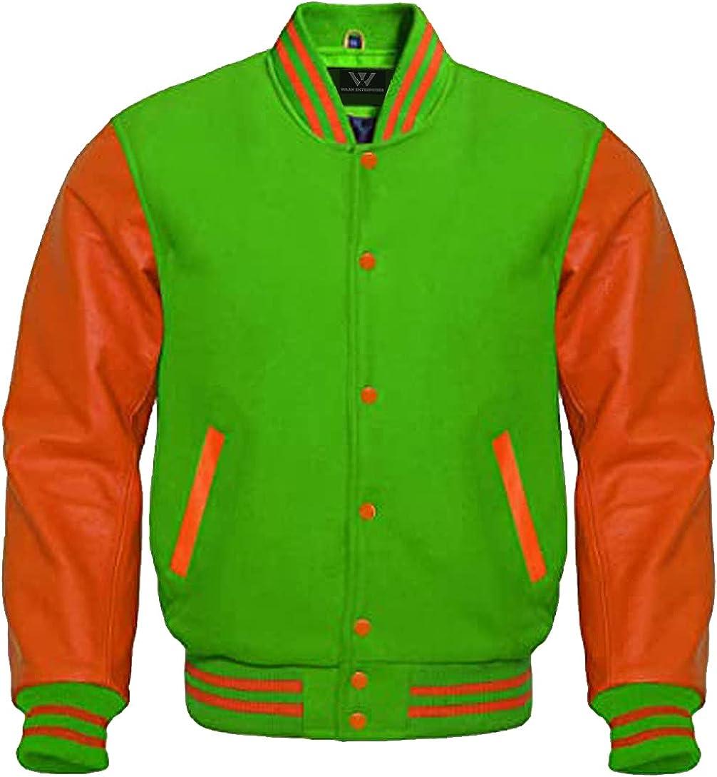Baseball Letterman Cheap mail order shopping Bomber School College Jacket Gr Purchase Varsity Kelly