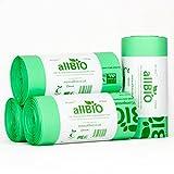 allBIO 30 Litre x 100 Bags 30 Litre 100% Biodegradable & Compostable Kitchen Kerbside Bin Liners