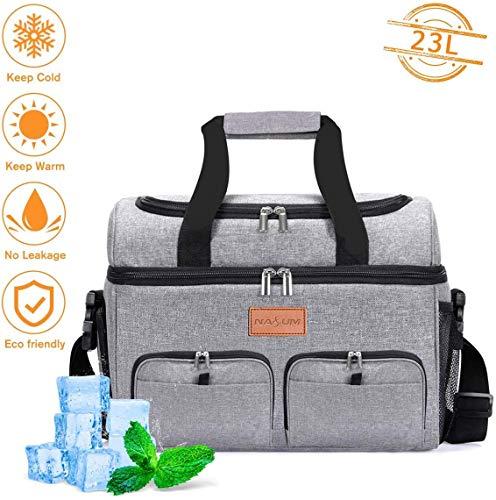 NASUM Kühltasche, Lebensmitteltasche, Kühltasche, Kühltasche für Picknick, Outdoor-Aktivitäten, Grill/Camping/Sport/Reisen (23 l)