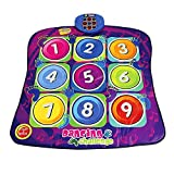 Numbers Dancing Challenge Rhythm & Beat Playmat Kids Electronic Music Dancing Challenge Playmat Dance Touch Sensitive Musical Play Mat