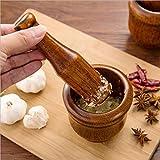 Zoom IMG-2 yuanbogg mortaio con pestello legno