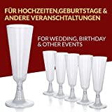 Sektgläser Plastik 50 Stück Einweg Champagnergläser 0,1l Bruchfest – Glasklar – Höhe 16cm - 3