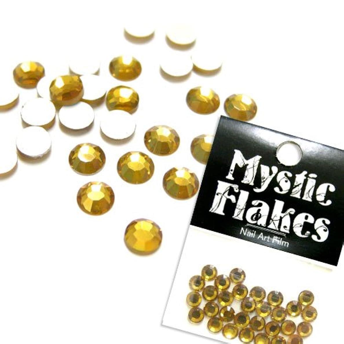 鰐病処理するミスティックフレース ネイル用ストーン ラインストーン ゴールド 5mm /30P