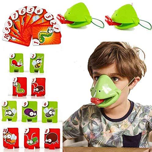 LUANXIU Tic TAC Tongue Frog Catch Bugs Juego de Mesa para niños Accesorios interactivos para Padres e Hijos