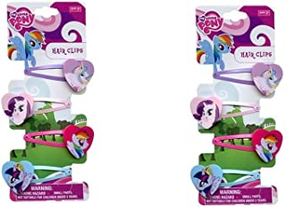 My Little Pony 4 on Snaps with Plastic Motifs Hair Accessory x 2 Pack