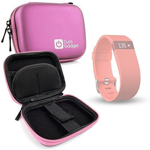 DURAGADGET Custodia Rigida Rosa per Fitbit Charge HR | Charge | Blaze | Surge | Alta | Flex - Perfetto per Portarlo in Viaggio!