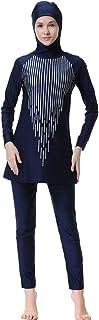 WOWDECOR Modest Islamic Swimwear Muslim Swimsuits for Women Girl Full Cover Burkini Swimming Beachwear