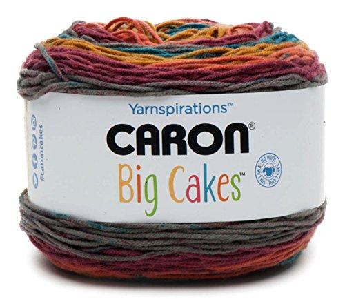Caron Big Cakes Self Striping Yarn ~ 603 yd/551 m / 10.5oz/300 g Each (Toffee Brickle)